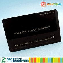 keeping RFID card safty dibet card fraud protection RFID blocking card made in China