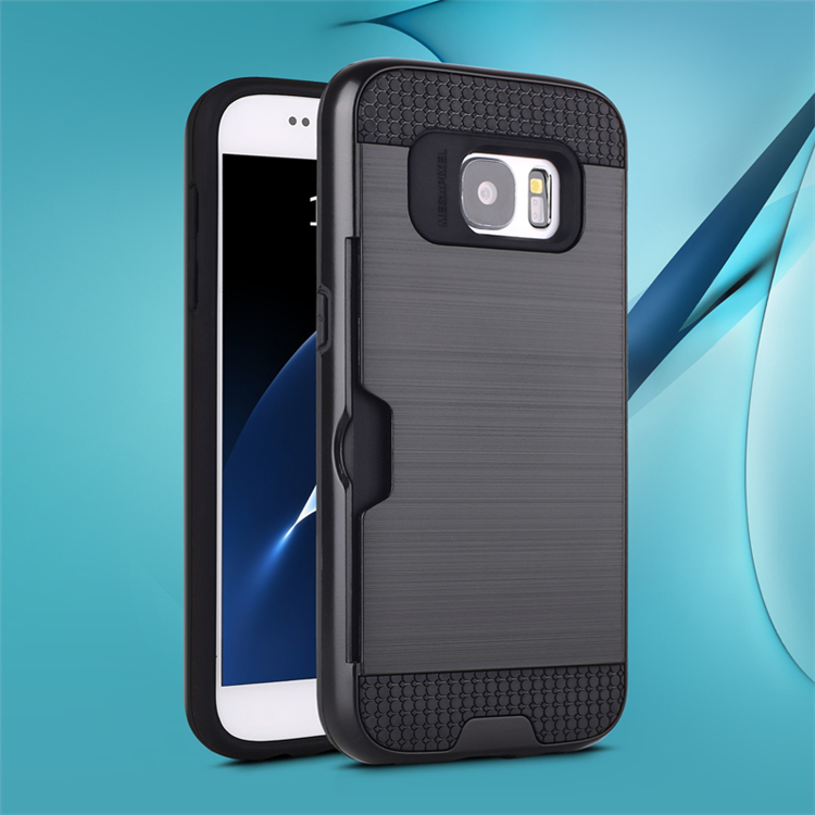 New design protective case for galaxy s7 back cover, card back case for samsung s7