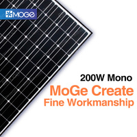 Moge monocrystal 200w 250W cheap home photovoltaic solar panel