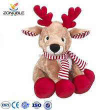 High quality christmas plush deer toy wholesale fashion soft stuffed plush reindeer