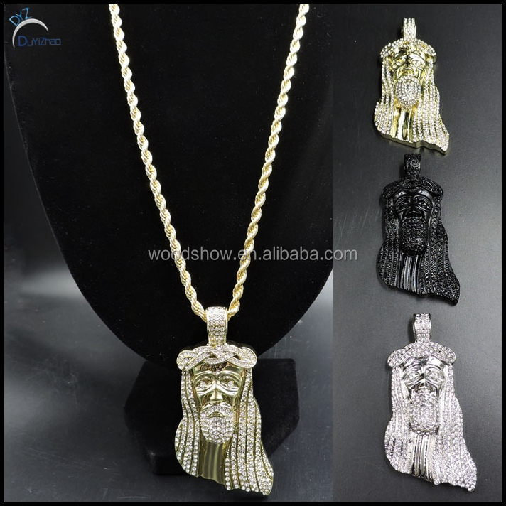 Fashion gold jesus piece pendant image