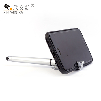 Factory Direct China OEM Unique Scree Stylus Plastic Touch Ball Pen With Phone Stand