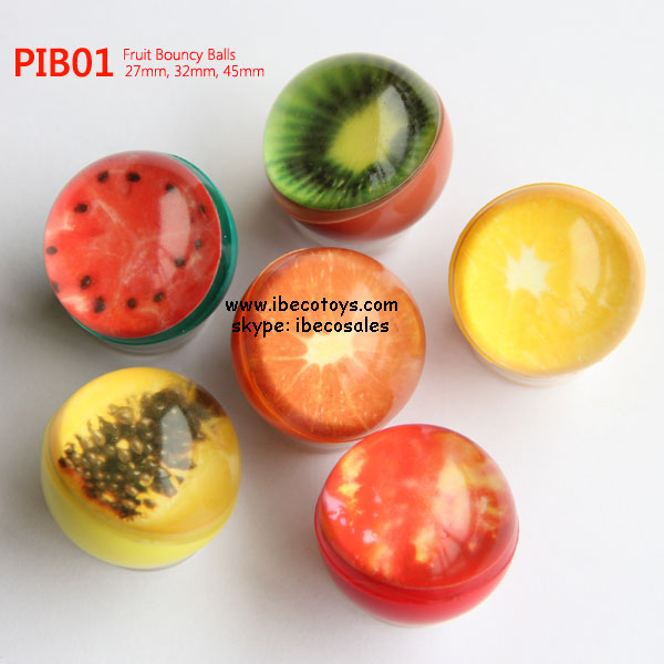 wholesale 45mm 3D fruit bouncing balls
