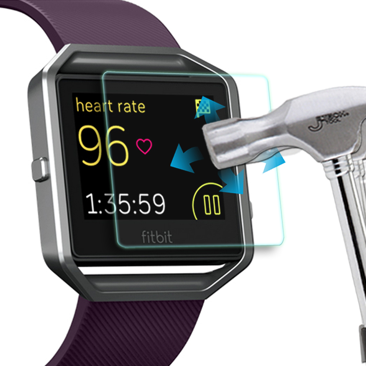 Crystal clear screen film for fitbit Blaze tempered screen protector 99% transparency