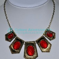 Anthropology Inspired Briolette Bib Statment Necklace