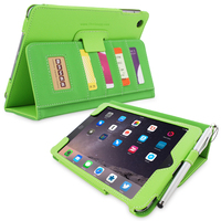 Snugg case for iPad mini 3 Card Slot Executive Case in Green Leather