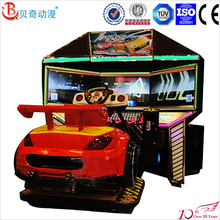 dynamic car racing simulator/42 inch LCD 3 screens Outrun real driving 3D Video Car Racing Game Machine