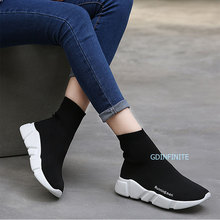 2017 Lovers Height Increasing Sock Runing Shoes New Ankle Boots Men Sport Shoes