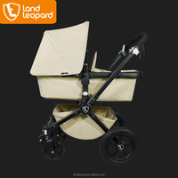 Classic Landleopard baby stroller pram with the luxurious sleeping cradle having the wooden board inside to care baby