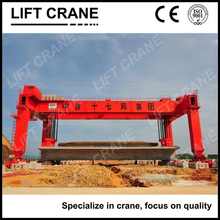 Port lifting container cranes 40t rubber tyre gantry cranes straddle carrier