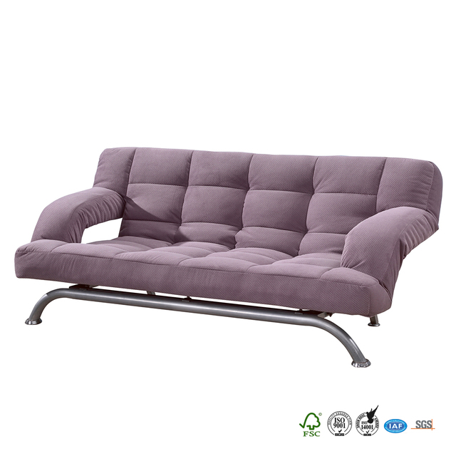 the lowest price modern simple design Guest room steel sofa cum bed