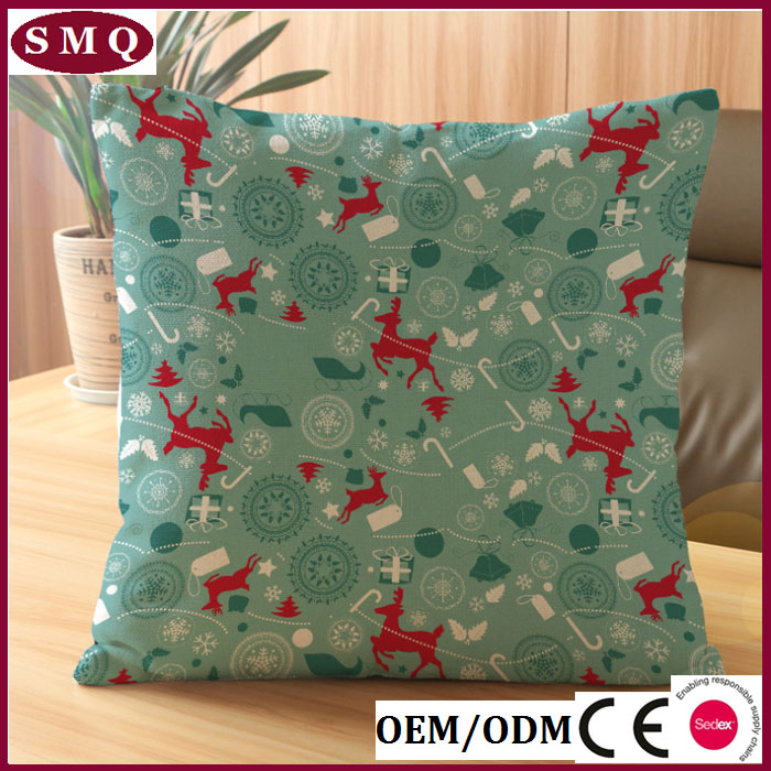 christmas waterproof fabric outdoor new design cushion cover