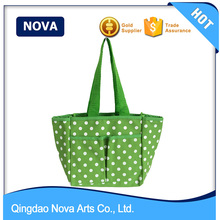 PP webbing handle wholesale tote chevron canvas bag