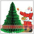 27cm Green Honeycomb Tissue Paper Holiday Christmas Tree hanging decorations