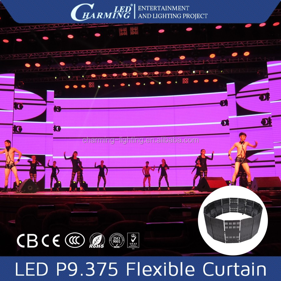 New Arrival!!! Golden supplier High brightness p20flexible led curtain