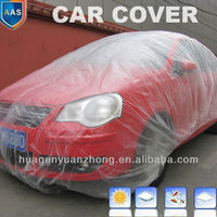 clear disposable plastic auto car cover