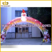 Good Printing Christmas Infaltable Santa Arch, Inflatable Party Archway
