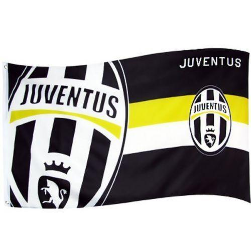 Custom logo printed club flag, juventus flag