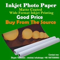 Factory production photo cast coated paper matte roll photo paper