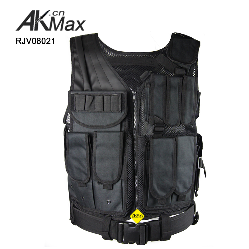 Government Bidding molle tactical mesh vest modular with gun holster