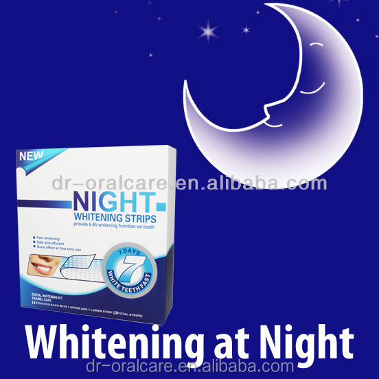 hydrogen peroxide whitening gel new technology product in china, Night Teeth Whitening Strips