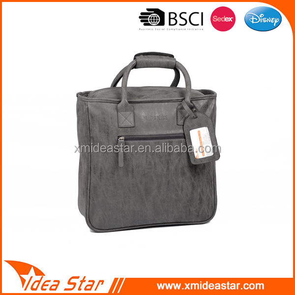 Fashion gray business leisure pu men handbag/shoulder compute bag