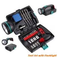 25 Piece Multi-Function Tool Set with Flashlight