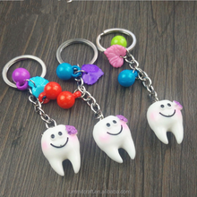 Resin 3d novelty tooth shape keychain medical souvenirs gift items