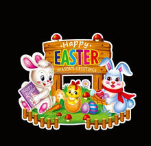 2015 hot sell paper rabbit easter decorations