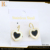latest design acrylic mirror heart shaped earrings exhibitor