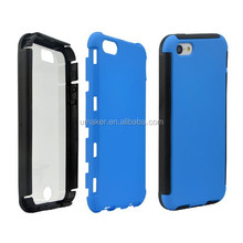 3 in 1 Protector Film Hard Case Hybrid Touch Screen cover case For Iphone5