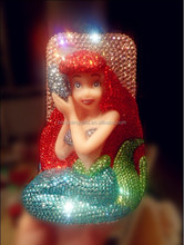 2014 Latest Wholesale Fashion 3D Mermaid jewelry cell phone cover cute cellphone case