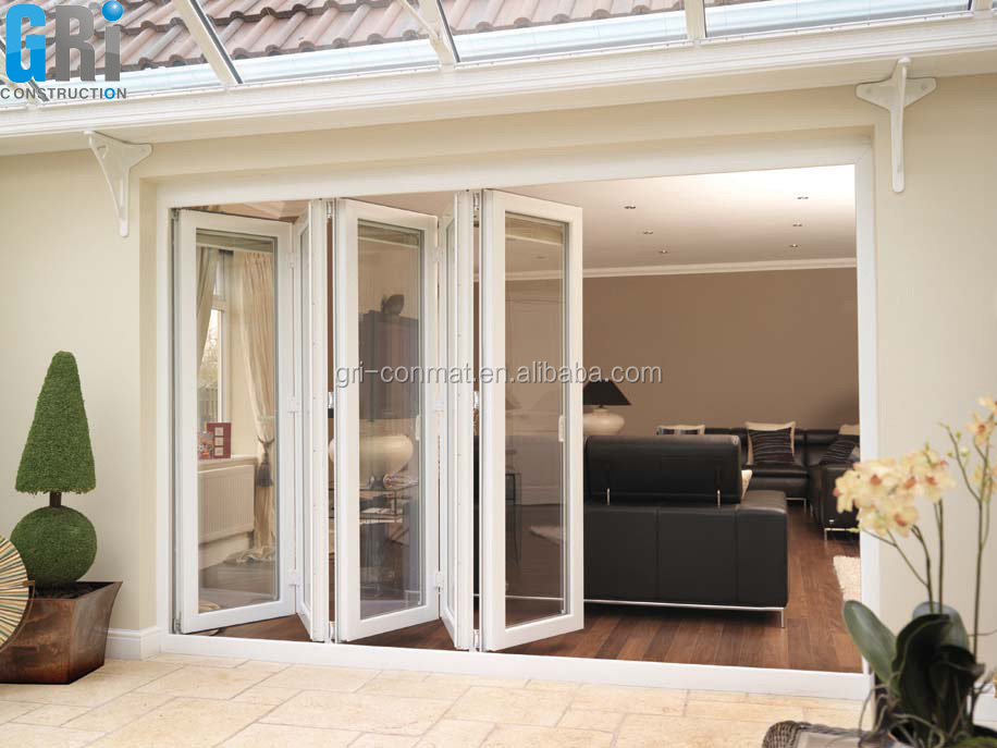 modern house design/Aluminium floding door with tempered glass
