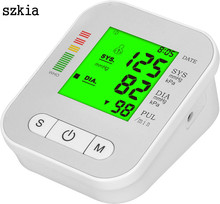 Three colour backlight high blood pressure monitor made in japan free finger with big LCD screen