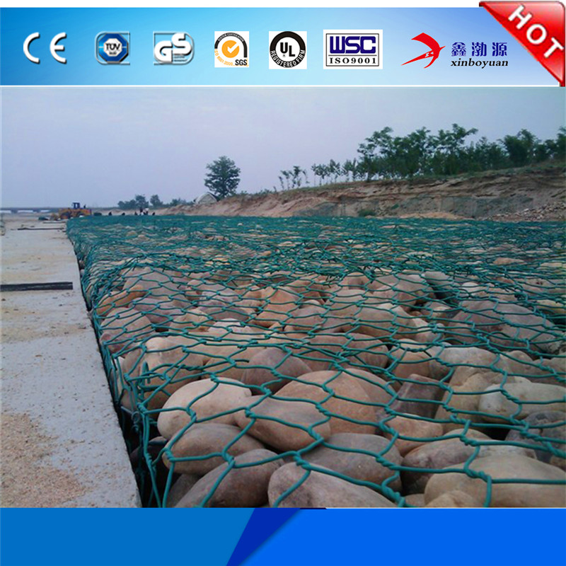 Factory High Quality Cheap price PVC coated Galvanized Welded Stone cage 6x8cm bronjong kawat gabion