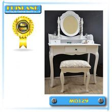 Jewelry mirror cabinet bedroom dressing table with chair