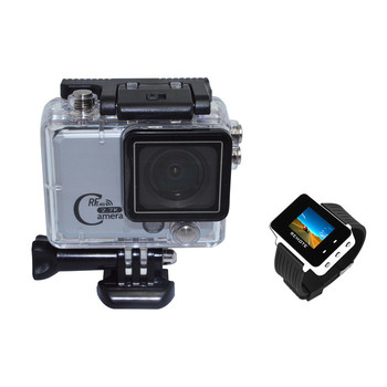 2.7K 2.0inch WIFI Ambarella Sport Action Camera with 2.4G Remote Controller 50Meter Underwater