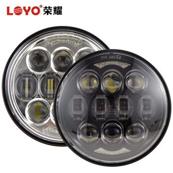 "LOYO patented 5.75"" 80W osram led motorcycle headlight h4 led light for H-arley motorcycles"