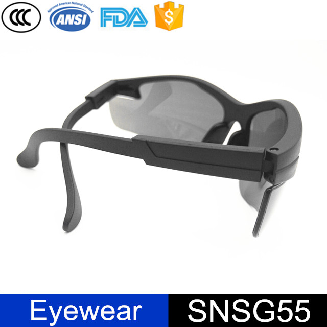 Out-door Sports Clear Lens Black Frame Protective Safety Glasses