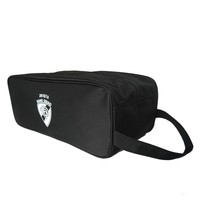 Black polyester wholesale travel shoe bag with zipper