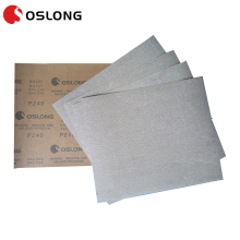 Waterproof sand paper sheet for precision machine parts polishing and lapping