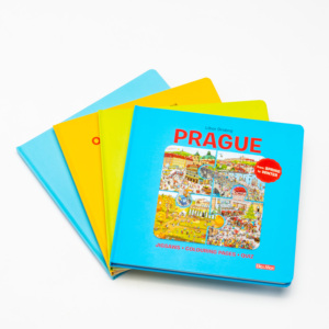 Custom printed children card book puzzle story book for kids