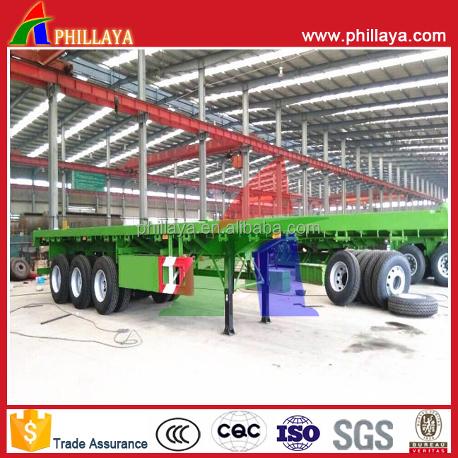 truck semi long trailer with various type container flatbed box van wing tipper dump lowbed tank tanker