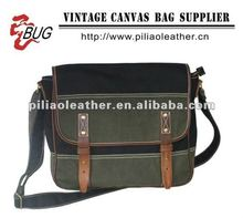 BUG 2013 fashion green canvas messenger shoulder bag/canvas shoucheap school messenger bag/cheap school messenger bag