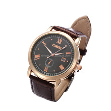 Classic Leather Men Watches Latest Design Bussiness Man Watch