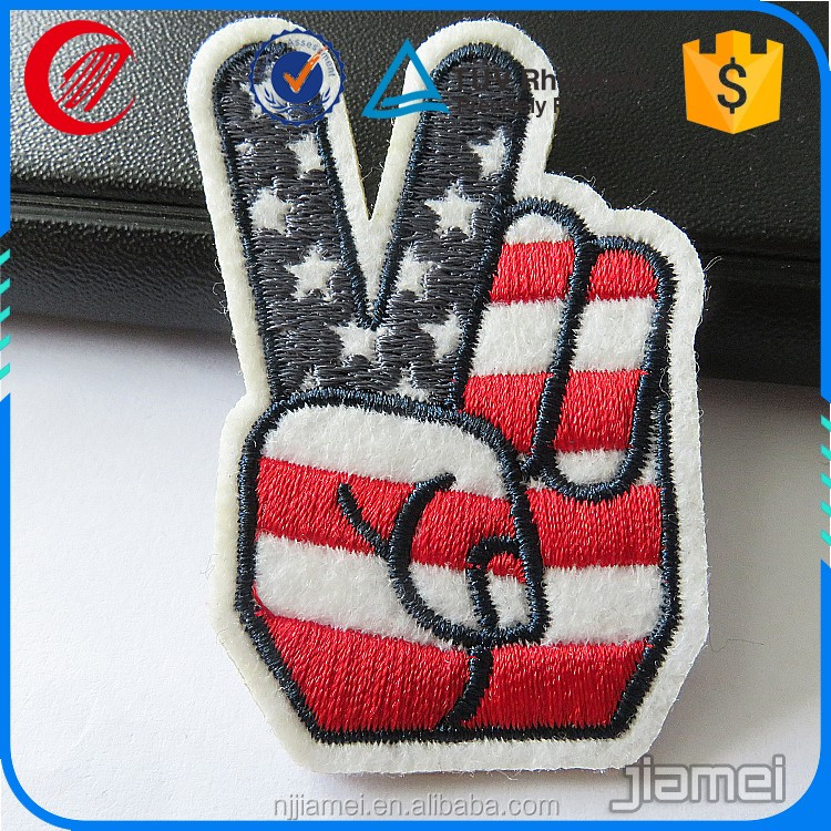 OEM embroidery patch label custom woven fabric iron on clothing labels
