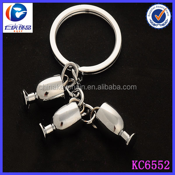 Cheap wholesale customised promotional items novelty cup key ring
