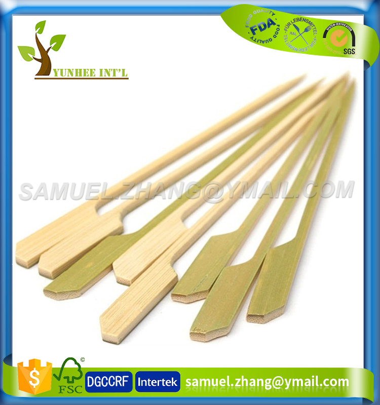 Gun Shape Finger Food Skewer Bamboo Paddle Skewer