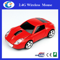 Fashionable Shenzhen 2.4GHz USB 2.0 3D Optical Cordless Wireless Car Mouse Mice