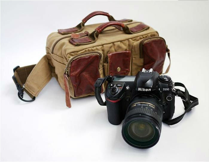 2013 Canvas Camera Bag with removable insert camera container